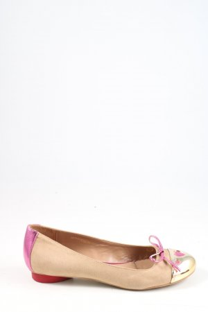 Love Moschino Lackballerinas creme-pink Casual-Look