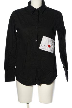 Love Moschino Long Sleeve Shirt black themed print casual look