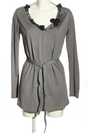 Love Moschino Lange blouse lichtgrijs-zwart elegant