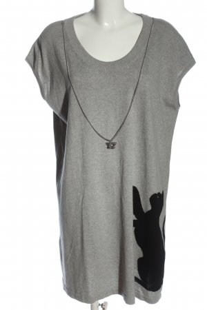Love Moschino Mini Dress light grey flecked casual look