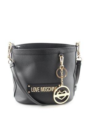 Love Moschino Mini sac noir-doré style décontracté