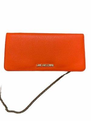 Love moschino orangene Tasche clutch Portmonee