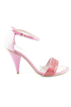 Love Moschino Riemchen-Sandaletten mehrfarbig 80ies-Stil