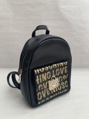 Love Moschino Mały plecak czarny-złoto