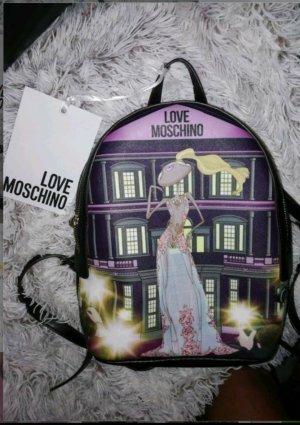 Love Moschino Sac à dos de randonnée noir-violet foncé