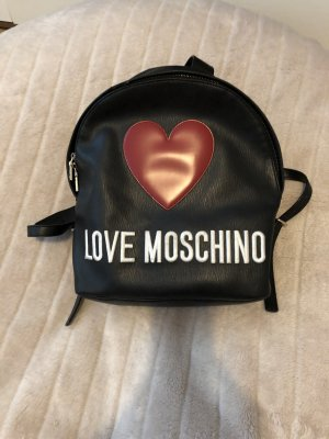 Love Moschino Rugzaktrolley zwart-donkerrood