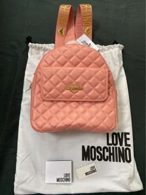 Love Moschino Sac à dos collège rose-doré