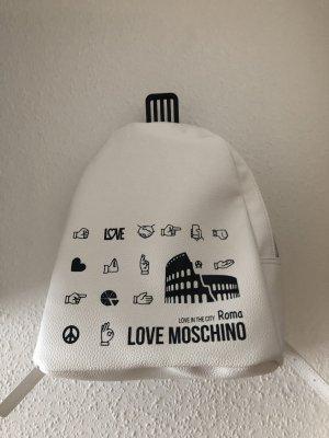 Love Moschino Daypack white-black