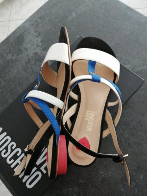 Love Moschino Strapped Sandals white-blue