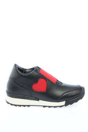 Love Moschino Basket slip-on noir-rouge style décontracté