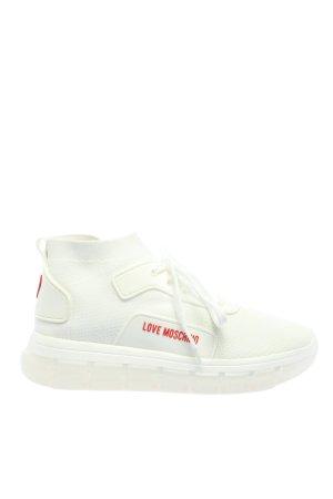 "Love Moschino Schnürsneaker ""Sneaker Calza"" weiß"