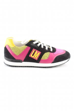 Love Moschino Schnürsneaker mehrfarbig Casual-Look