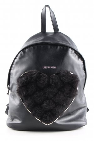 Love Moschino School Backpack black themed print casual look