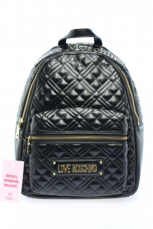 "Love Moschino School Backpack ""Quilted Handle"" black"