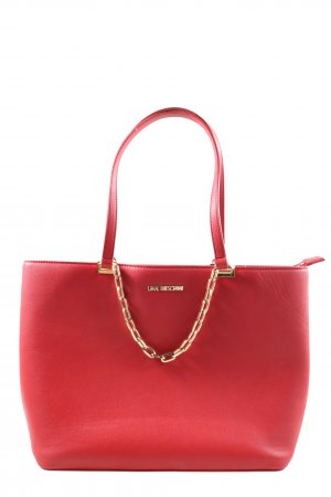 Love Moschino Bolsa de hombro rojo estilo «business»