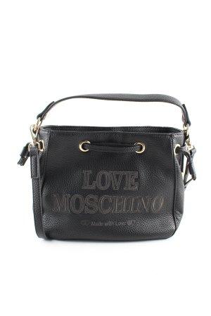 Love Moschino Schultertasche schwarz Schriftzug gedruckt Business-Look