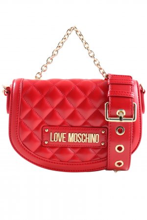 Love Moschino Schultertasche rot Steppmuster Casual-Look