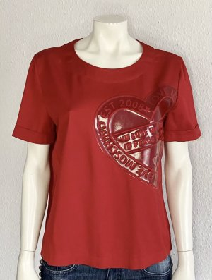 Love Moschino Shirt Gr. 40 rot Logo