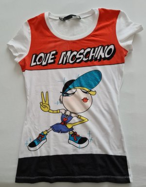 Love Moschino Shirt Gr.S weiß Strasssteine sehr auffallend wie neu