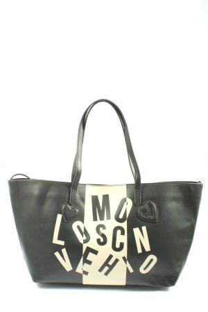 Love Moschino Shopper zwart-wolwit prints met een thema casual uitstraling