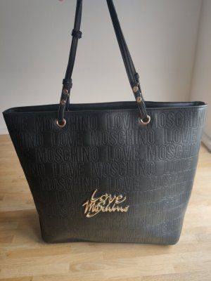 Love Moschino Shopper noir cuir