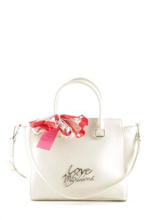 """Love Moschino Shopper """"Logo Tote Scarf Saffiano PU Avorio"""" wolwit"""