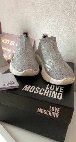 Love Moschino Basket montante argenté