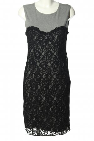 Love Moschino Lace Dress light grey-black allover print casual look