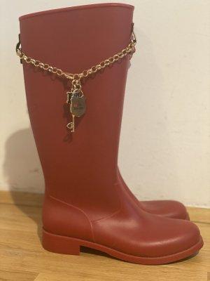 Love Moschino Gumowe buty czerwony