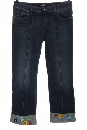 Love Moschino Straight Leg Jeans blue flower pattern casual look