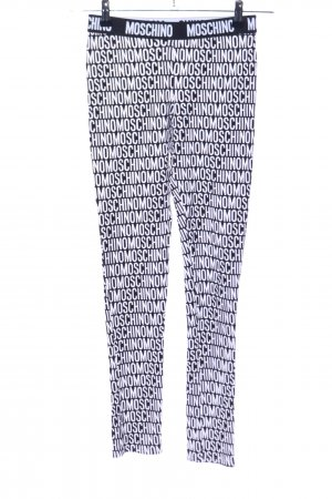 Love Moschino Stretch Jeans black-white themed print athletic style