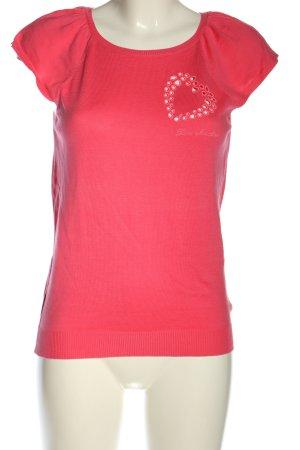 Love Moschino Strickshirt pink Schriftzug gedruckt Casual-Look