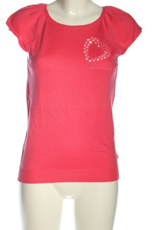 Love Moschino Knitted Jumper pink printed lettering casual look