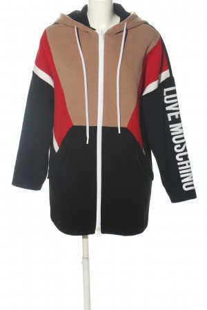 Love Moschino Sweat Jacket printed lettering casual look