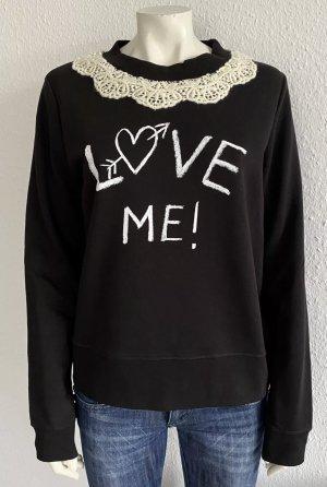 LOVE MOSCHINO Sweatshirt Gr. 40 schwarz Logo
