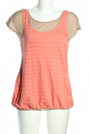 Love Moschino T-Shirt pink-creme Streifenmuster Casual-Look