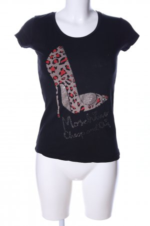 Love Moschino T-Shirt schwarz Motivdruck Casual-Look