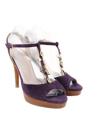 Love Moschino Sandales Salomé à talon haut violet élégant