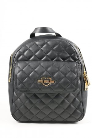 Love Moschino Daypack black quilting pattern casual look