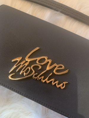 Love Moschino Tasche mit silbernen Logoschriftzug