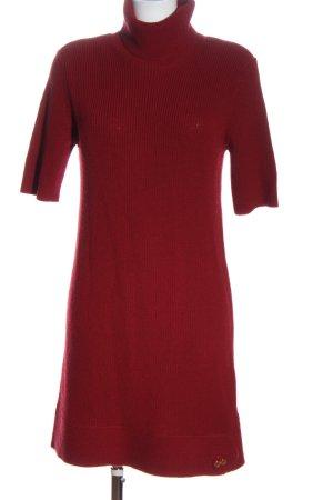 Love Moschino Wełniana sukienka czerwony W stylu casual