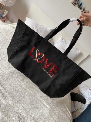 Victoria's Secret Torebka z rączkami czarny-czerwony