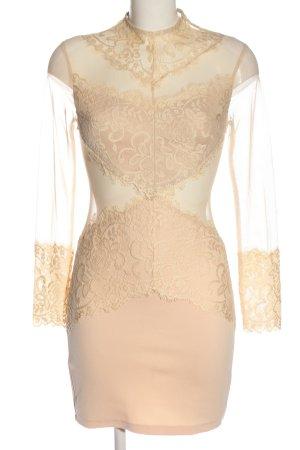 Love Triangle Langarmkleid creme Elegant