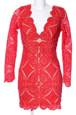 Love Triangle Spitzenkleid rot Elegant
