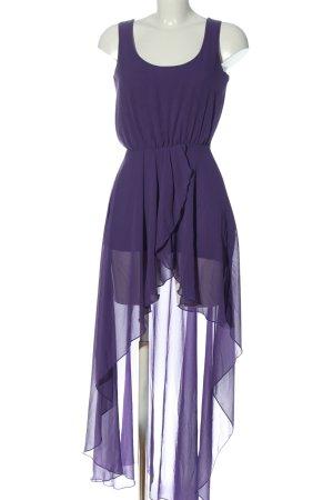 Love Robe bas asymétrique violet élégant