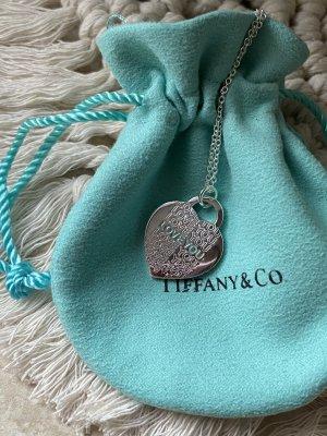 Tiffany&Co Collier argenté-turquoise