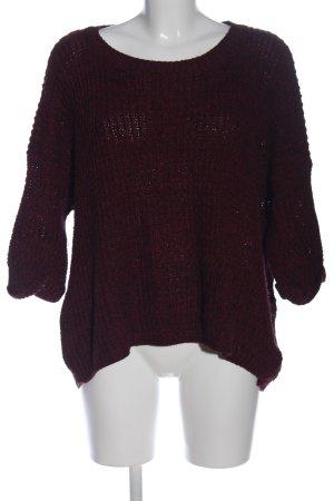 Love Warkoczowy sweter brązowy W stylu casual