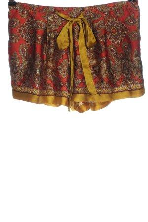 love21 Krótkie szorty czerwony-bladożółty Abstrakcyjny wzór W stylu casual