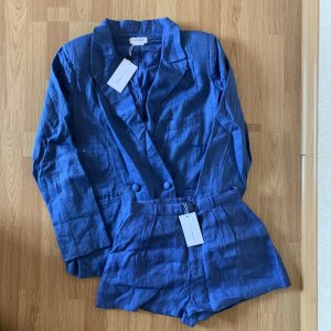 Lovers + Friends Leinen Fanning Blazer Jordy Short Co Old Suit Anzug Hose retro vintage Sommeranzug bohemian 70s 80s boyfriend