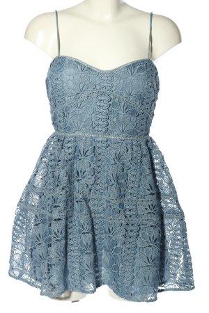 Lovers + friends Minikleid blau Blumenmuster Casual-Look